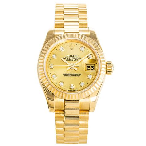 Gold Ladies Datejust 179178   Replica Watches Store