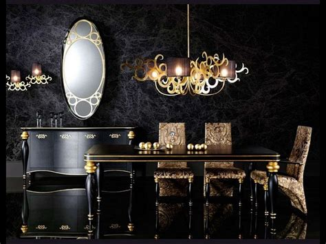 Black And Gold Interior by Luxury Gold And Black Furniture For Modern Interiors