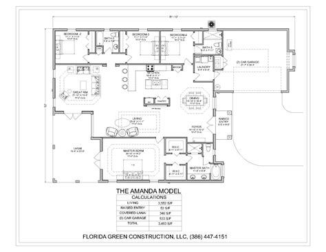 4 Bedroom Floor Plans With Bonus Room Inspirations Single Story House Plans With Bonus Room