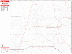 zip code map upland ca upland california zip code wall map red line style by
