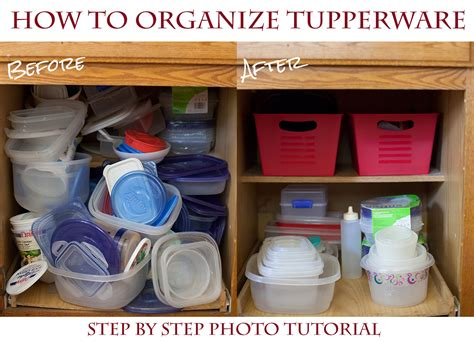 how to arrange how to organize your tupperware cupboard for a couple