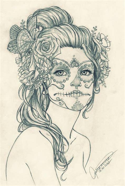 dia drawing dia de los muertos by xxxdarksunsetxxx on deviantart