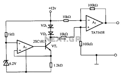 silicon diode temperature coefficient thermometer circuit page 4 meter counter circuits next gr