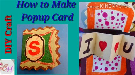 video tutorial how to make love diy craft how to make i love you popup card tutorial