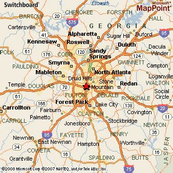 atlanta georgia surrounding area map atlanta georgia