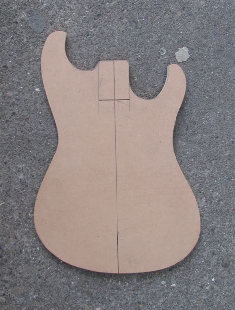 wood project guitar routing templates