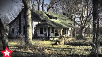 ghost an a haunted cabin in the woods