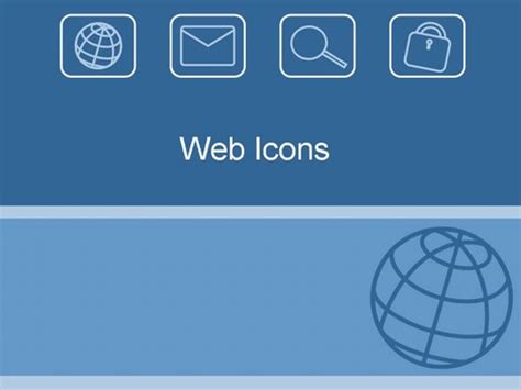 ppt templates for electronics presentation web icons template