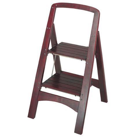 2 Step Folding Stool by Folding 2 Step Stool Wood Vintage Ladder Stable Portable