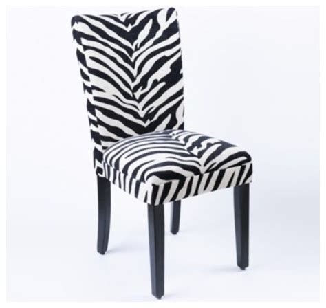 zebra parsons chair contemporary dining chairs by kirkland s