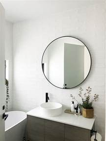Mirrors In Bathrooms S Home Black And White Bathroom Reveal Style Curator