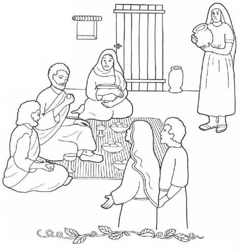 coloring pages jesus and martha 17 best images about and martha coloring pages on