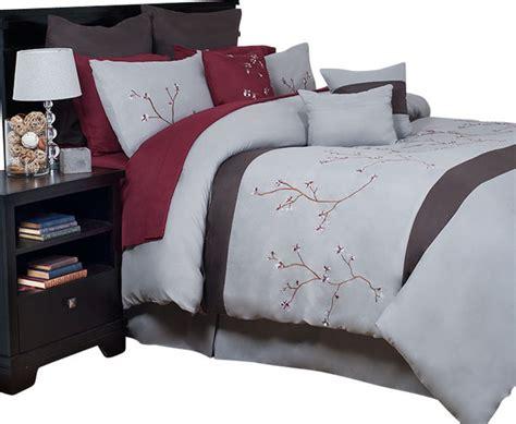 oversized queen comforters lavish home grace 14 piece oversized embroidered comforter
