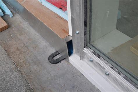 Door Waterproofing Detail Deck Over Wood Sleepers At Waterproof Exterior Door Threshold