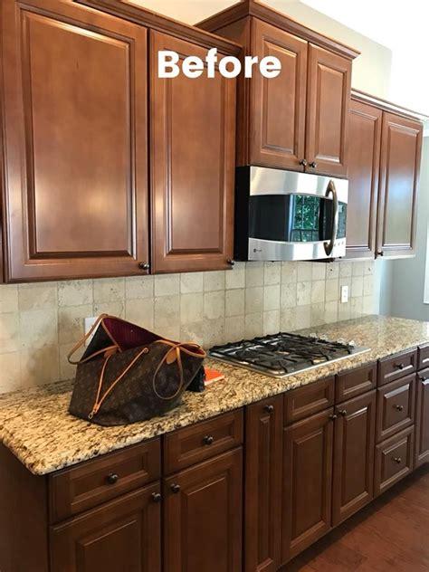kitchen update  antique white van dyke brown