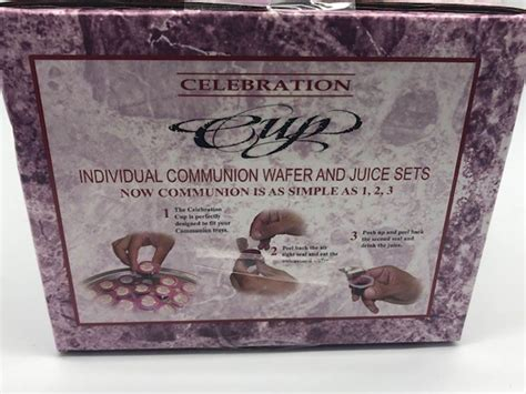 celebration cups individual prefilled communion wafer