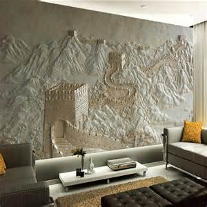 Wall Art Murals Wallpaper 3d Wall Murals Wallpaper Great Wall Landscape For Living
