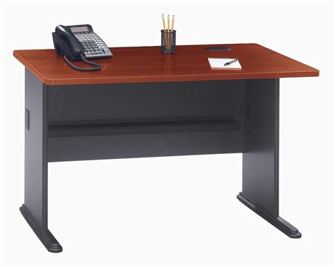series a hansen cherry 48 inch desk from bush wc90448a