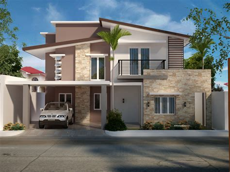 modern single story house designs small storey plan
