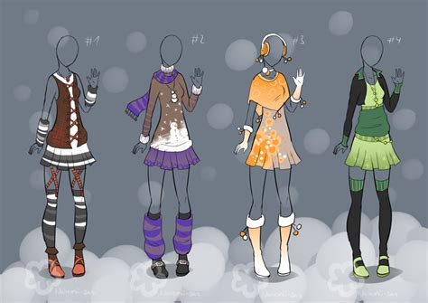 design winter clothes winter outfit designs sold by nahemii san on deviantart