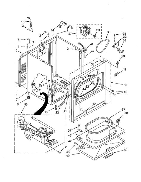 kenmore elite dryer parts diagram i a sears kenmore 80 series gas dryer the problem