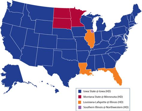 big ten map illini football big ten network coverage map