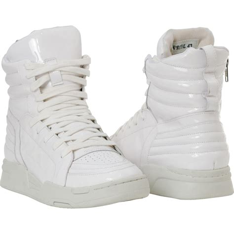 breakin royal cosmic white patent leather high top