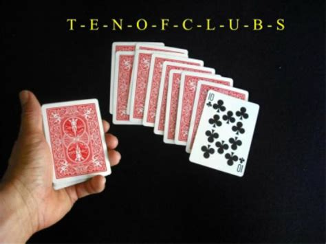 how to make magic tricks with cards easy card magic tricks the spelling trick