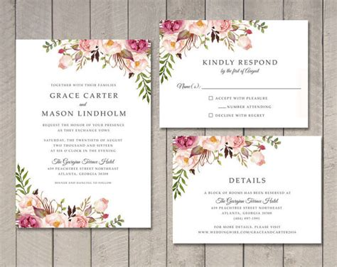 aliexpress invitation code floral wedding invitation rsvp details card ca0761 in