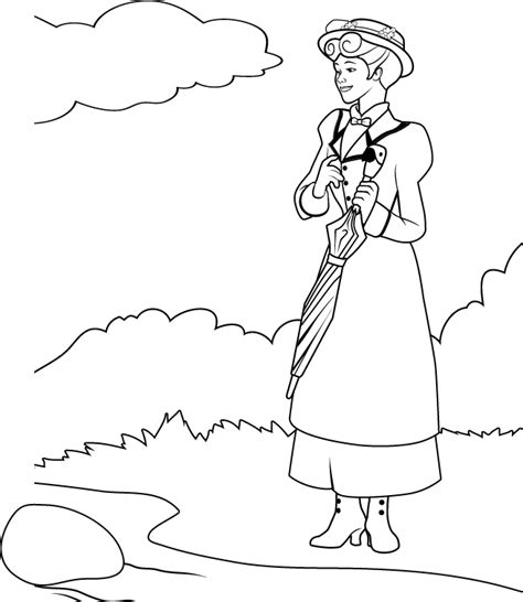Poppins Coloring Pages Mary Poppins Coloring Pages Coloring Home by Poppins Coloring Pages