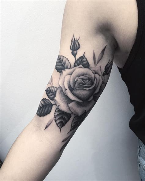 rose tattoos on upper arm 27 inspiring tattoos designs flower sleeve tattoos