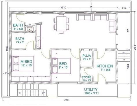 2bhk floor plan free 1bhk 2bhk 3bhk ground floor plans in bangalore
