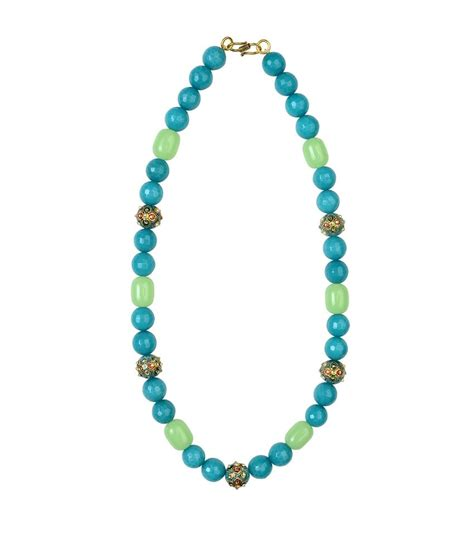 modern beaded necklaces dhoot jewels light blue modern necklace set buy