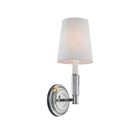 Polished Nickel Sconces by Feiss Lismore 1 Light Polished Nickel Wall Bracket