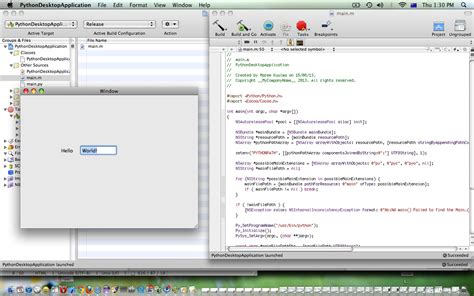 python tutorial application xcode python desktop application primer tutorial robert