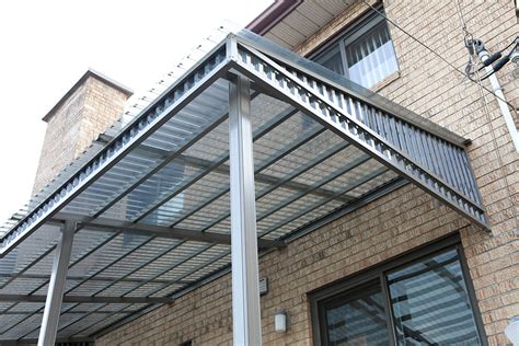 polycarbonate awnings mondi aluminium awnings