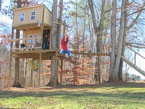backyard zip line without trees tree houses zip lines