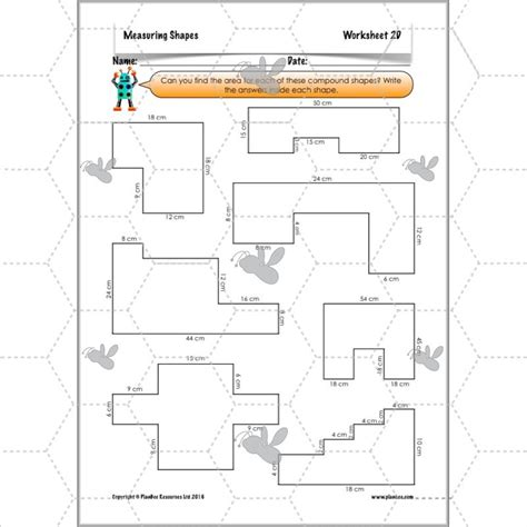 printable shapes to measure perimeter measuring shapes perimeter and area ks2 complete series