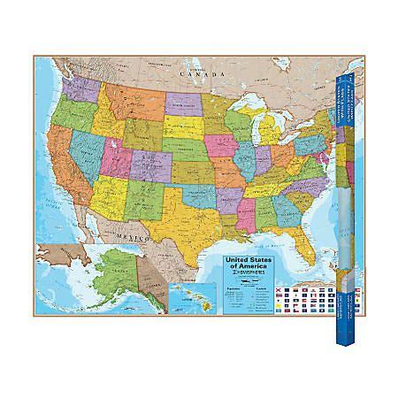 laminated map of the united states world products hemispheres laminated united states