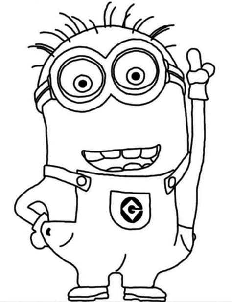 coloring page of a minion minion coloring pages dr odd