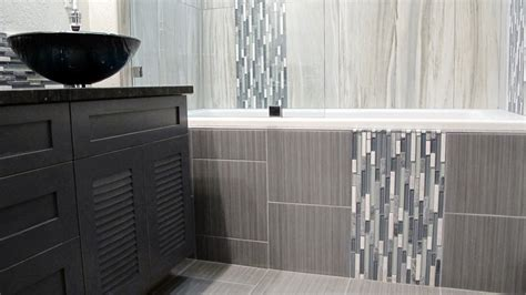 Bathroom Glass Tile Designs by Large Custom Home With Porcelain Tile And Natural Stone