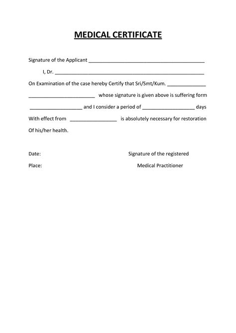 sample medical certificate for school 13 examples in word pdf