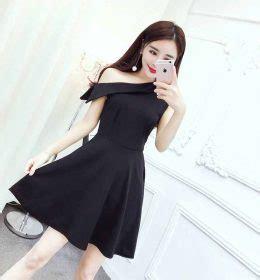 B06 Baju Dress Cewek Tanpa Lengan Hitam Putih Merk Mango Bagus Murah toko jual baju wanita import murah eveshopashop
