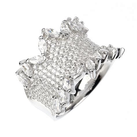 Silver Ring With Cubic Zirconia P 1008 cubic zirconia silver ring sarahgargash