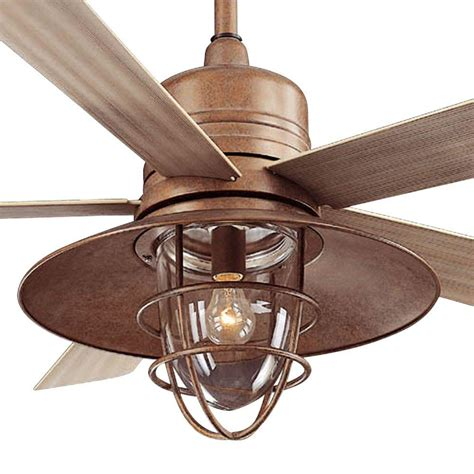 outdoor ceiling fan clearance hton bay metro 54 in rustic copper indoor outdoor