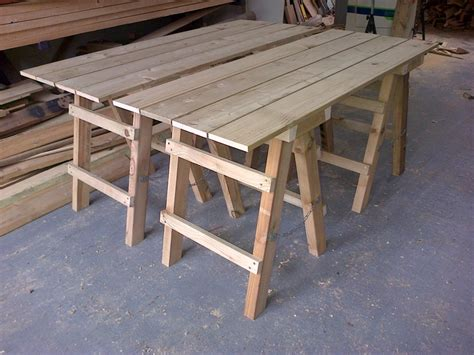 trestle table bench collapsible trestle tables the wooden workshop oakford devon