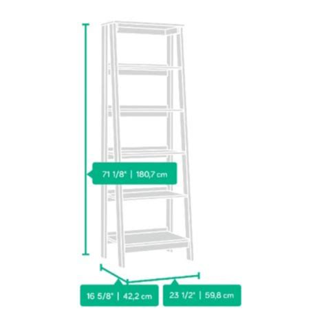 trestle 5 shelf bookcase white trestle five shelf ladder bookcase 71h officefurniture com