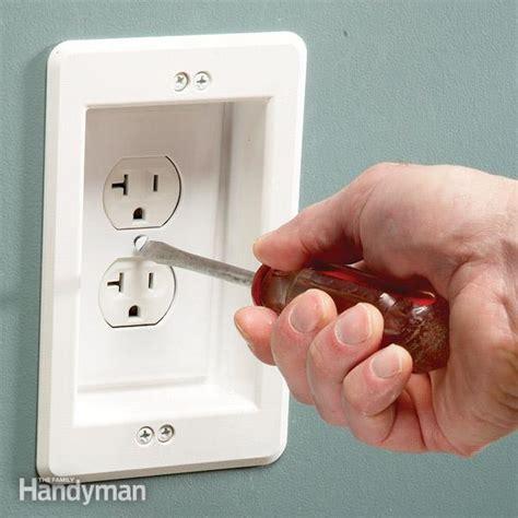 install a wall hugger receptacle family handyman