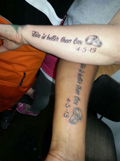tattooed heart west lafayette couple s tattoo with wedding rings and dates quot two is
