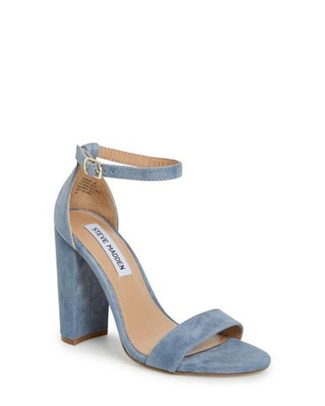 light blue block heels steve madden carrson sandal in blue lyst